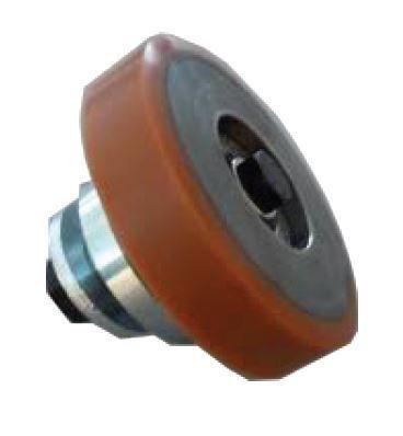 Rullo Arcata 125x30x20 mm con perno