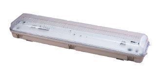 Plafoniera stagna 2X18 W + luce emergenza IP65